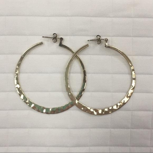 c4a539b8f Silpada Hammered Sterling Silver Hoops. M_5b8af2ad25457aded0b020a4